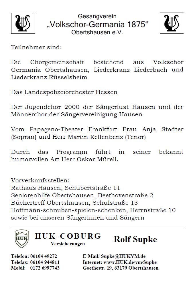Volkschor Germania Konzert 2