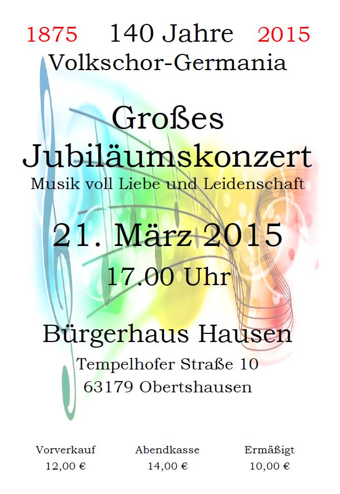 Volkschor Germania Konzert