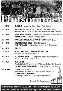 Hofsommer 2016 Flyer